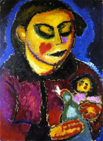 Girl with Doll | Alexei Jawlensky | oil painting