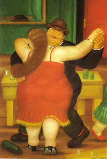 Dancing Couple | Fernando Botero | oil painting