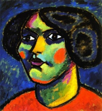 Head with White of Eyes | Alexei Jawlensky | oil painting