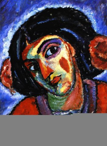 Inclined Head of a Woman   Alexei Jawlensky   oil painting