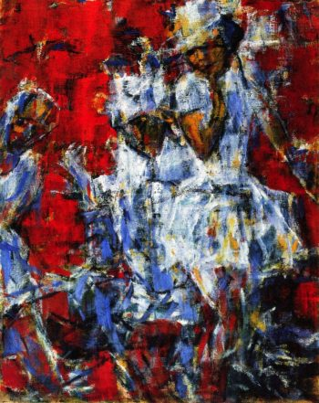 A Pair of Dancers | Christian Rohlfs | oil painting