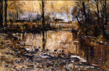 Autumn Evening on the Ilm | Christian Rohlfs | oil painting