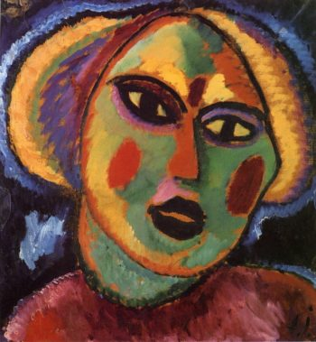 Maiden with Violet Blouse | Alexei Jawlensky | oil painting