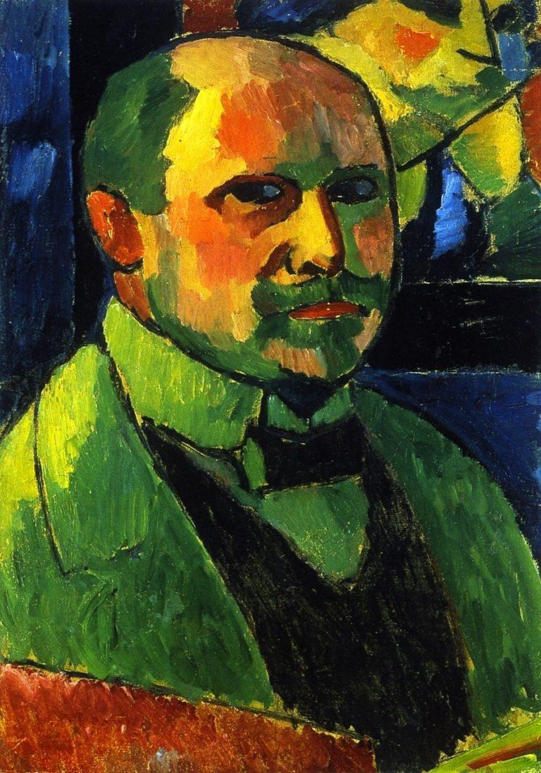Portrait of a Man   Alexei Jawlensky   oil painting