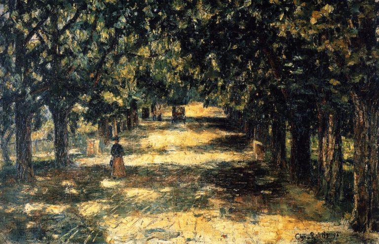 Belvedere Avenue in Weimar | Christian Rohlfs | oil painting