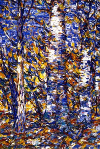Birch Forest | Christian Rohlfs | oil painting