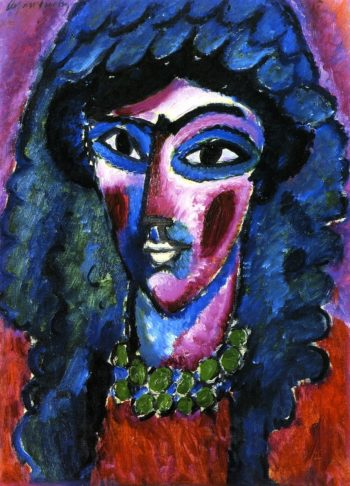 Head in Wine Red and Green | Alexei Jawlensky | oil painting