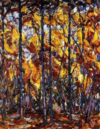 Buchen im Herbst | Christian Rohlfs | oil painting