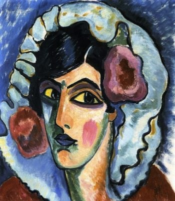 Large Head of a Woman | Alexei Jawlensky | oil painting