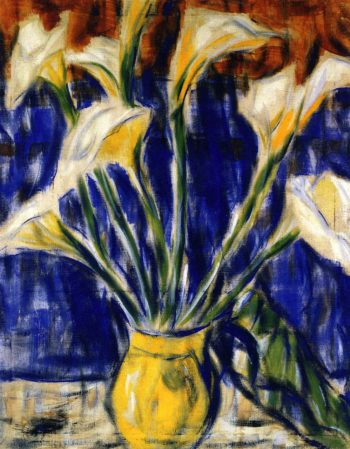 Calla Lilies | Christian Rohlfs | oil painting