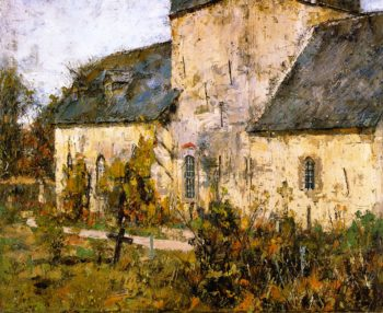 Cemetery in Gelmeroda | Christian Rohlfs | oil painting