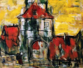 City Gate in Dinkelsbuhl | Christian Rohlfs | oil painting