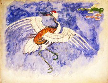 Crane | Christian Rohlfs | oil painting