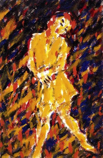 Dance with Mask II | Christian Rohlfs | oil painting