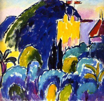 Yellow House Bordighera | Alexei Jawlensky | oil painting
