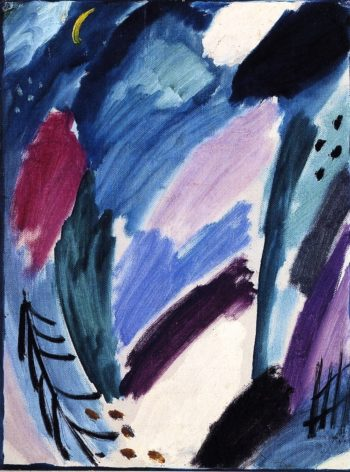 Variation Frosty Night with Crescent Moon | Alexei Jawlensky | oil painting