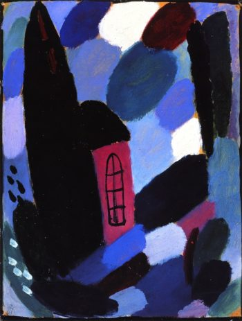 Variation House in Trees | Alexei Jawlensky | oil painting