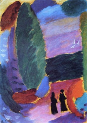 Variation Two Figures in Autumn | Alexei Jawlensky | oil painting