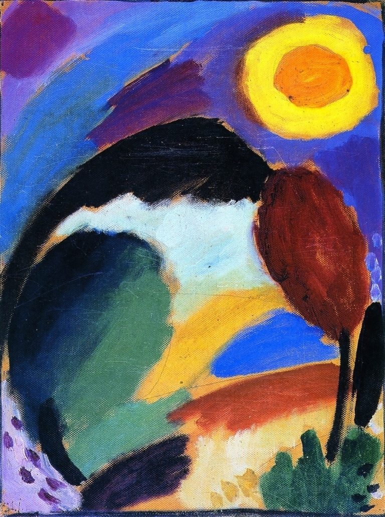 Variation with Sun | Alexei Jawlensky | oil painting