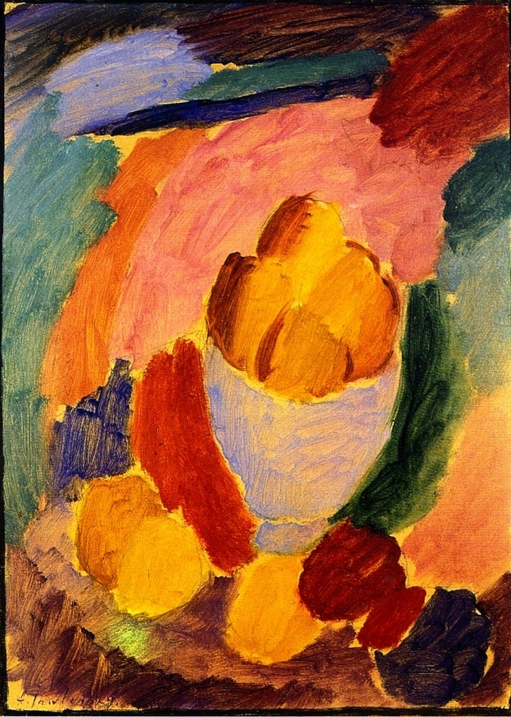 With Bowl and Apples | Alexei Jawlensky | oil painting