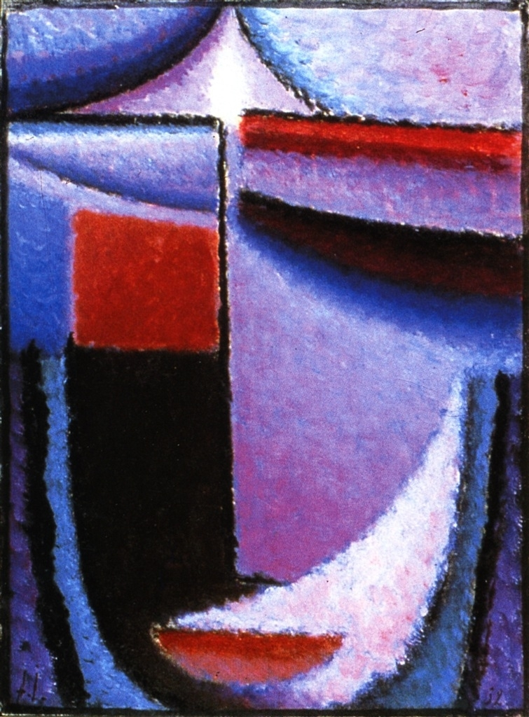 Abstract Head Amethyst | Alexei Jawlensky | oil painting