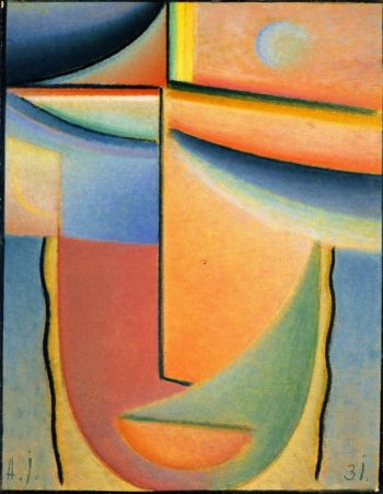 Abstract Head Aurora | Alexei Jawlensky | oil painting