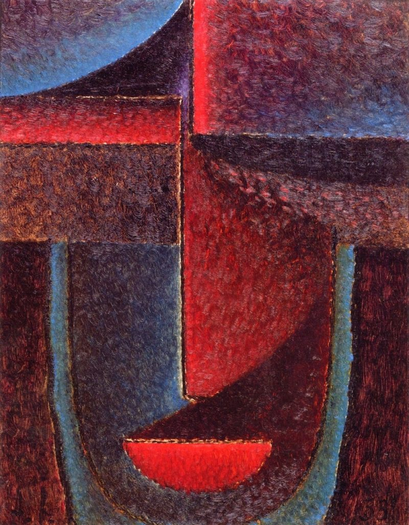 Abstract Head Blue Red | Alexei Jawlensky | oil painting