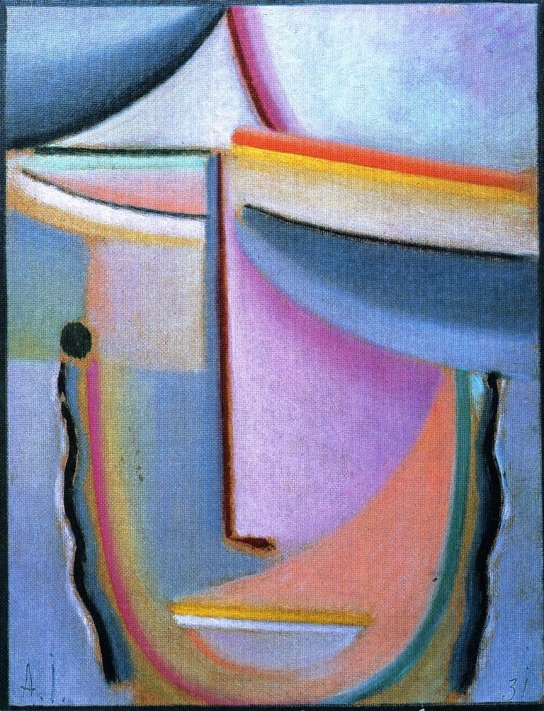 Abstract Head Breath of Spring | Alexei Jawlensky | oil painting