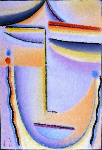 Abstract Head Bright Sound | Alexei Jawlensky | oil painting