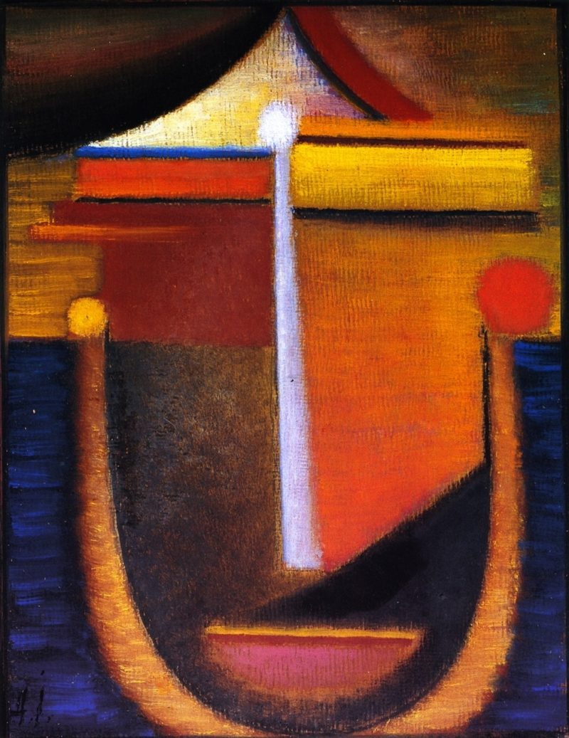 Abstract Head Composition No 10 | Alexei Jawlensky | oil painting