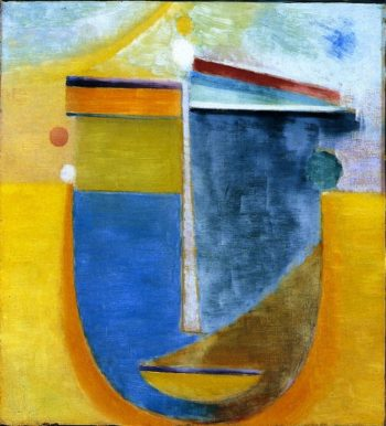 Abstract Head Composition No 13 China Private collection | Alexei Jawlensky | oil painting