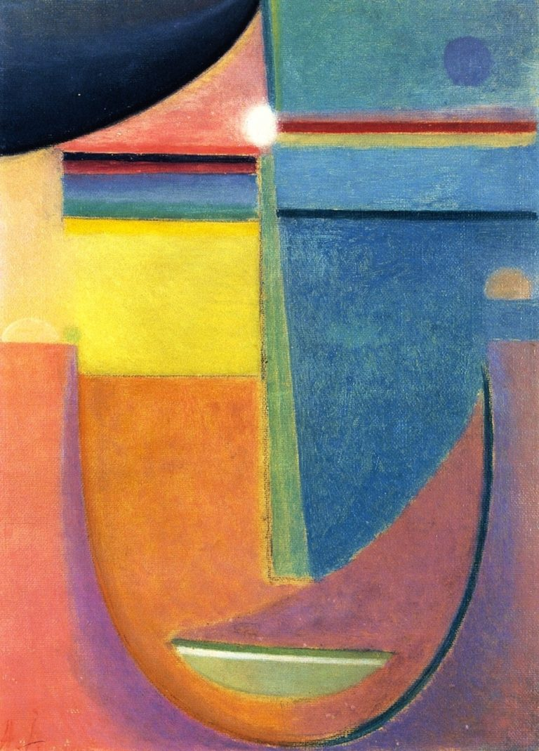 Abstract Head Composition No 1 Sunrise | Alexei Jawlensky | oil painting