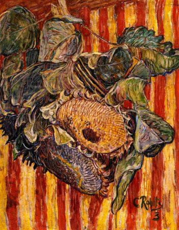 Sunflowers | Christian Rohlfs | oil painting