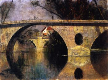 The Star Bridge in Weimar | Christian Rohlfs | oil painting