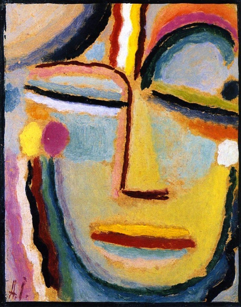 Abstract Head   Alexei Jawlensky   oil painting