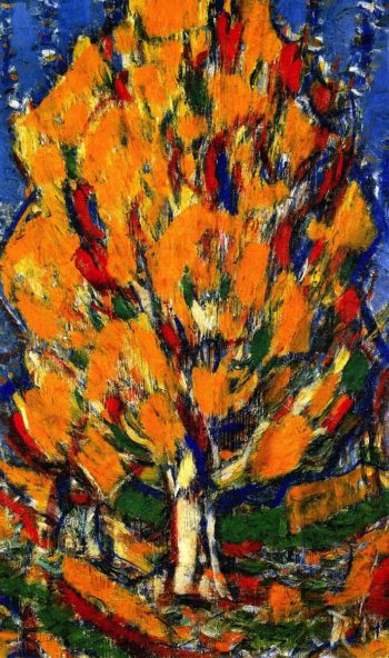 Tree in Autumn | Christian Rohlfs | oil painting