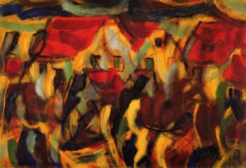 Village | Christian Rohlfs | oil painting