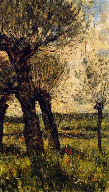 Weiden im Gegenlicht | Christian Rohlfs | oil painting