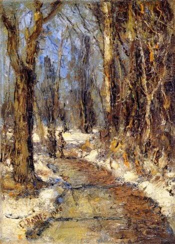 Winter Landscape   Christian Rohlfs   oil painting