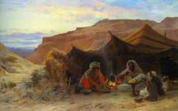 Bedouins in the Desert | Eugene Alexis Girardet | oil painting