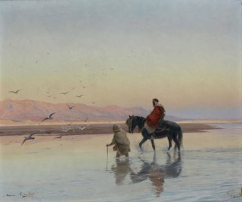 Crossing the Wadi | Eugene Alexis Girardet | oil painting