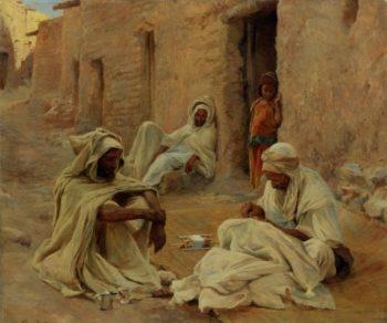 Mending | Eugene Alexis Girardet | oil painting