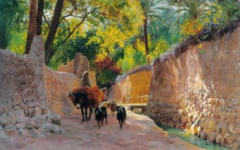 On the Way to the Market | Eugene Alexis Girardet | oil painting