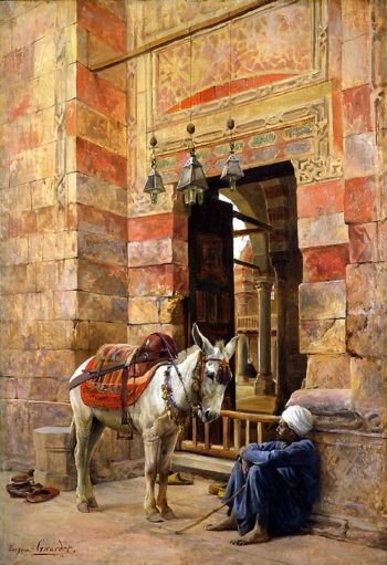 Outside the Mosque | Eugene Alexis Girardet | oil painting