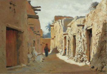 Rue d El Kantara Algerie | Eugene Alexis Girardet | oil painting