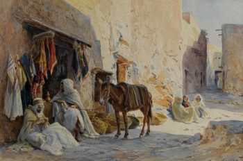 The Cloth Seller | Eugene Alexis Girardet | oil painting