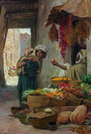 The Fruit Seller | Eugene Alexis Girardet | oil painting