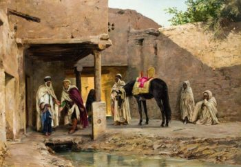 The Visit of the Sheikh | Eugene Alexis Girardet | oil painting