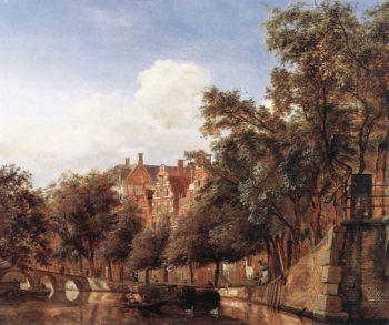 View of the Herengracht Amsterdam | Jan van der Heyden | oil painting
