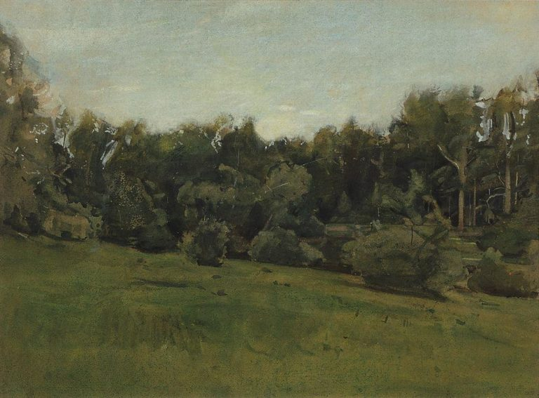 Edge of the Forest. Ligovo | Konstantin Somov | oil painting